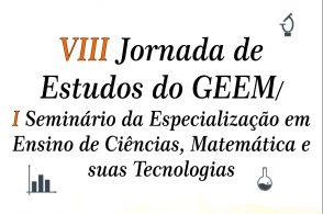 8ª Jornada de Estudos do Grupo de Estudos em Educação Matemática
